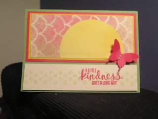 Spritzing Zena Kennedy Stampin Up independent demonstrator