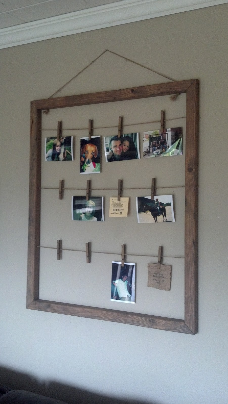 The antique craftsman blog clothes pin photo hanger for Craftsman frame