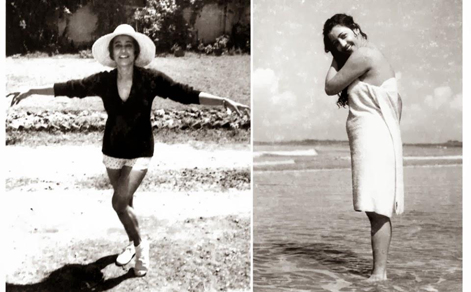 shuchitra in shorts, shuchitra taking bath at a beach