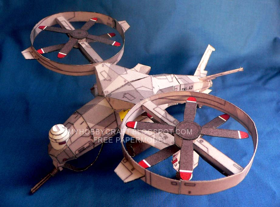 RA67 Unmanned Combat Air Vehicle Papercraft