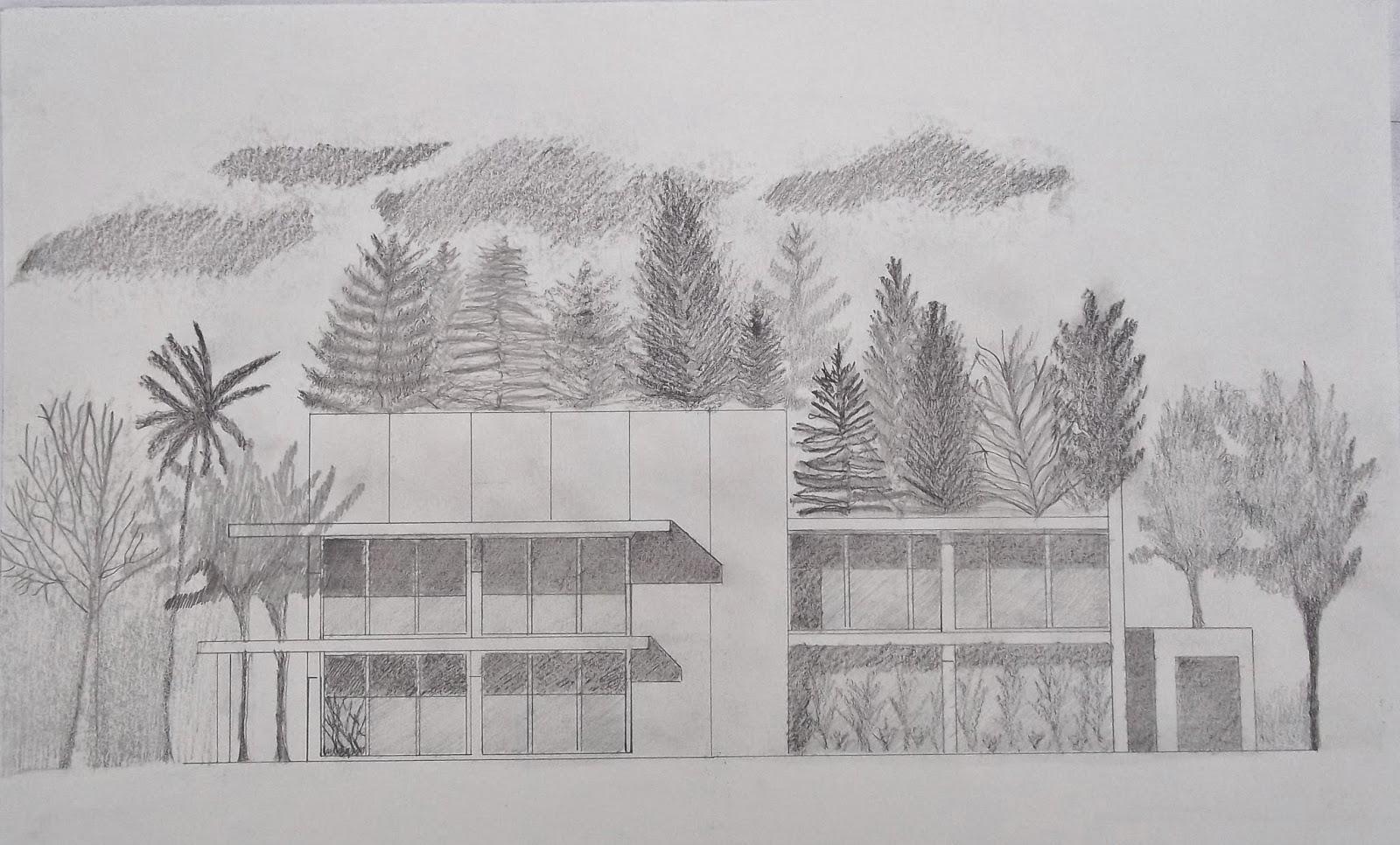 Arquitectura y dise o ambientaci n con l piz - Casas dibujadas a lapiz ...