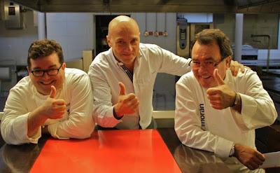 Marco Morán, Esteban Capdevila y Pedro Morán en Casa Gerardo.