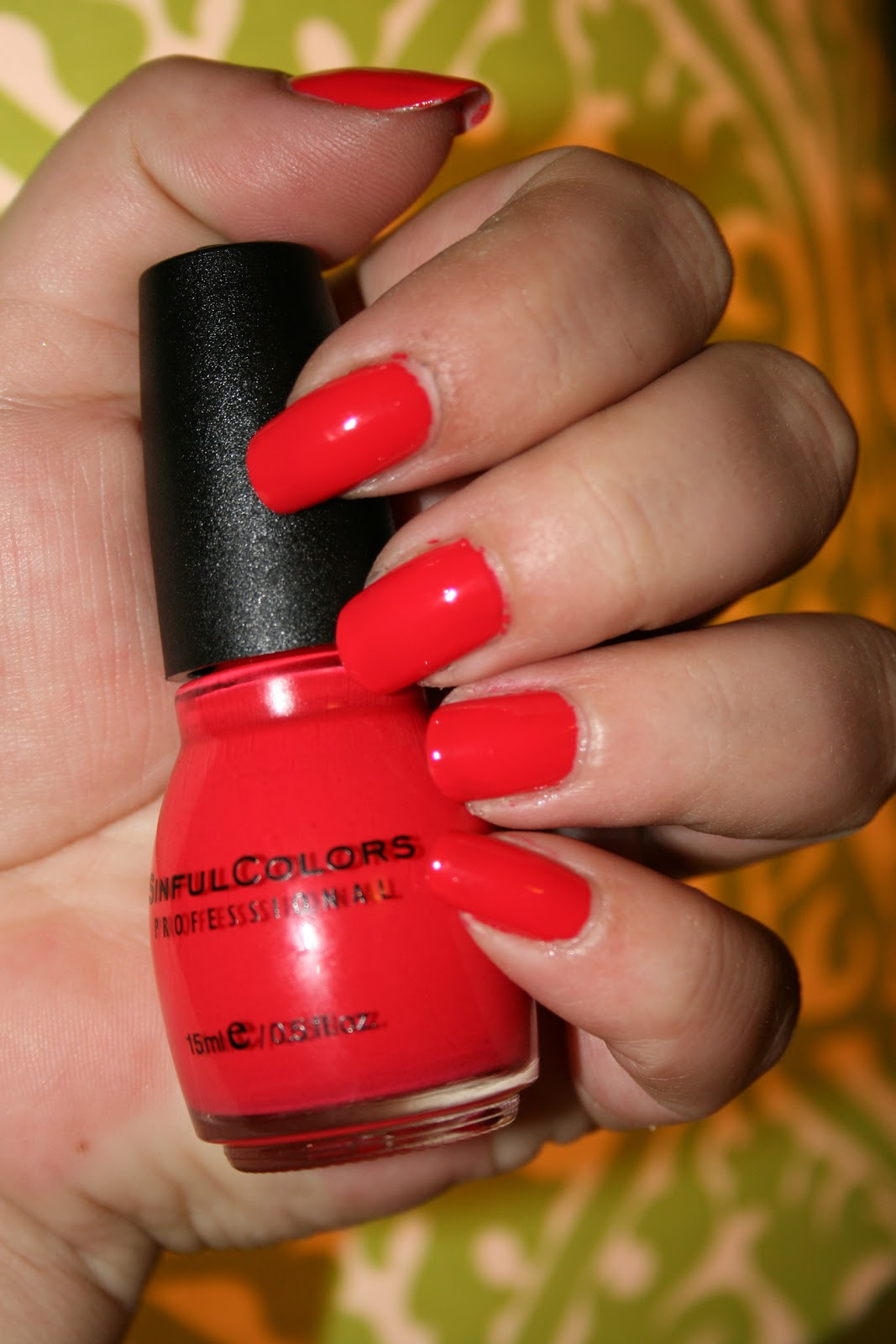 I Am Loving This Color Is One Coat Of Energetic Red 1122 With No Top It A Beautiful Bright Orange Perfect For Summer