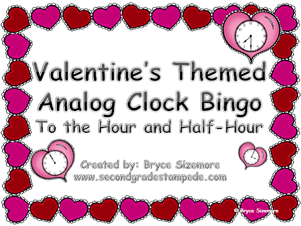 http://www.teacherspayteachers.com/Product/Valentines-Themed-Bingo-Review-Time-to-the-Hour-and-Half-Hour-1106886