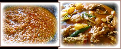 Malacca Portuguese Debel (Devil) Curry dish