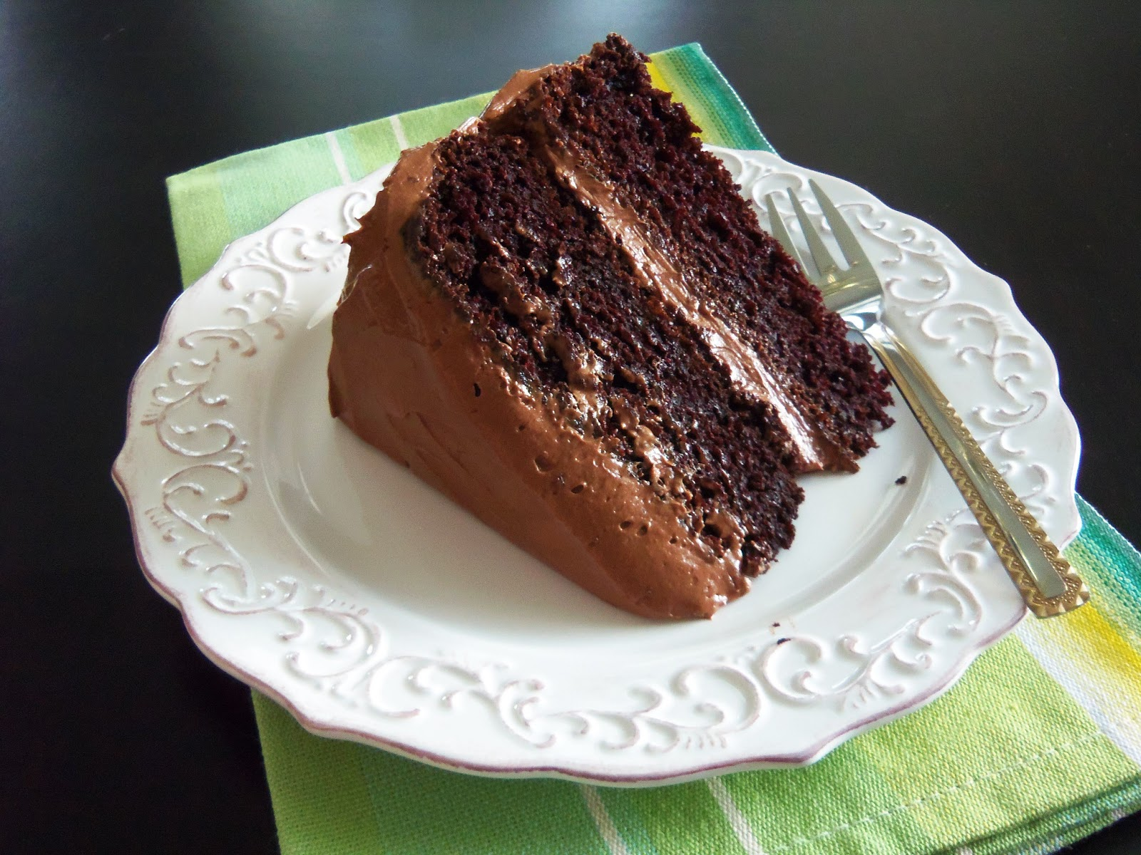 Simply Romanesco: Double Chocolate Layer Cake