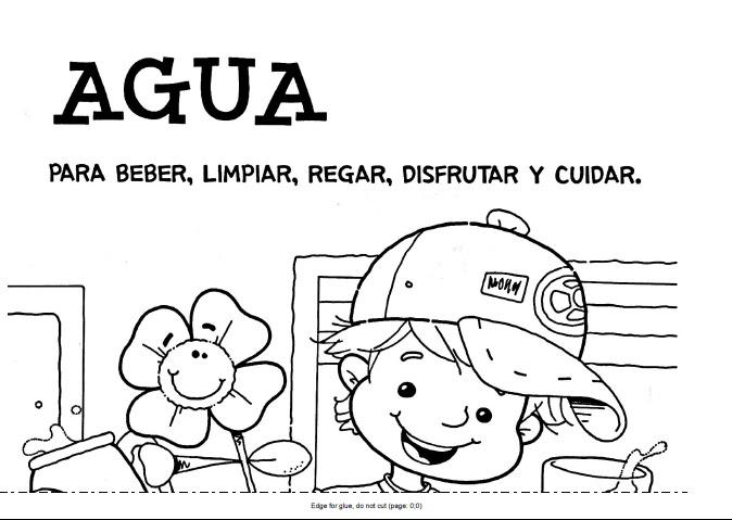 Carteles para colorear sobre el cuidado del agua - Imagui