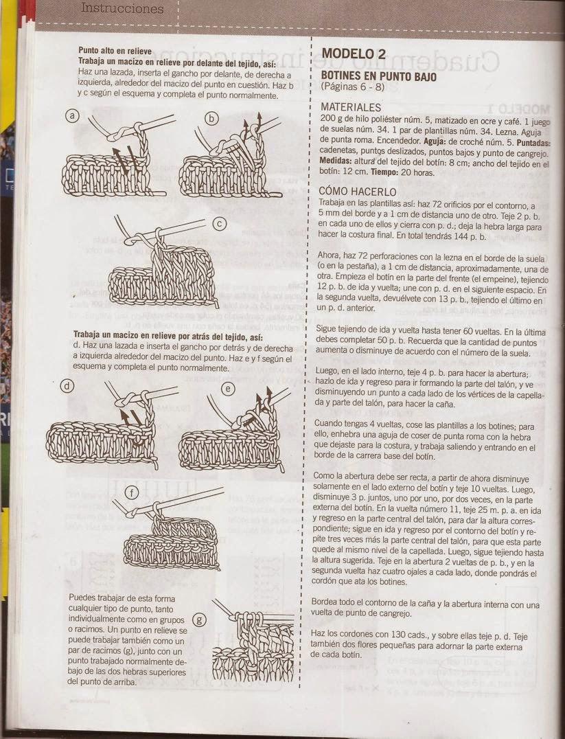 Dorable Botines Ganchillo Cocodrilo Modelo De La Puntada Libre ...