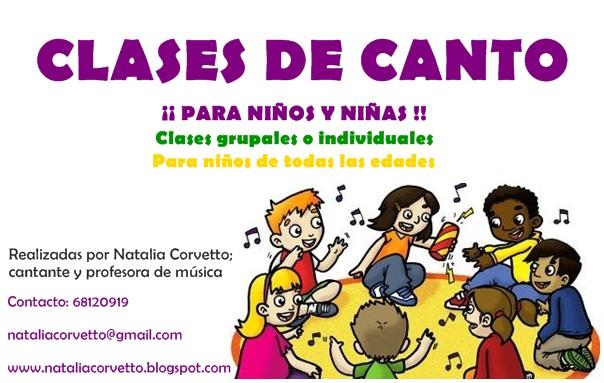 Natalia corvetto clases de canto para ni os y ni as for Clases de piscina para ninos