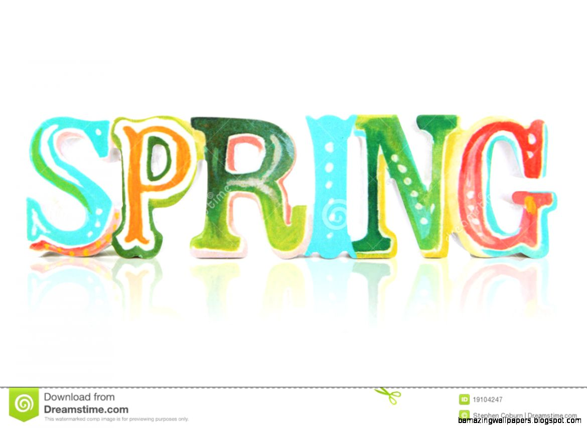Colorful Spring Sign Royalty Free Stock Photography   Image 19104247