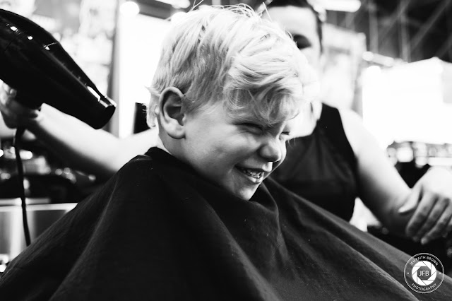 documentary photography, family photo, boy getting hair cut, boy hairstyle, flower mound photography, floyd's barber shop