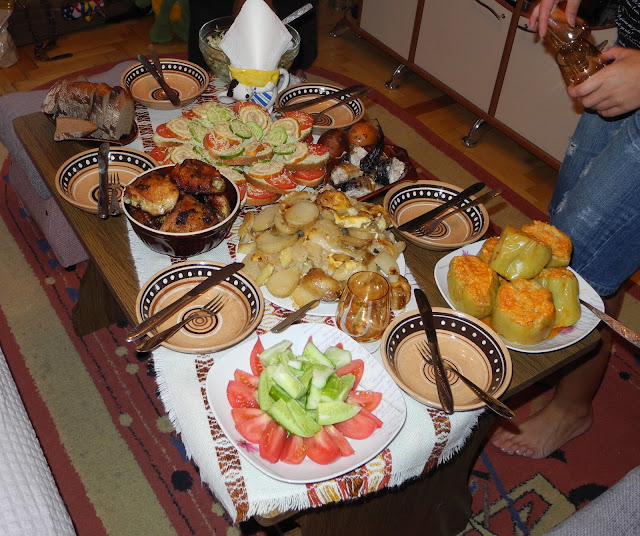 Dinner for friends, Western Ukraine