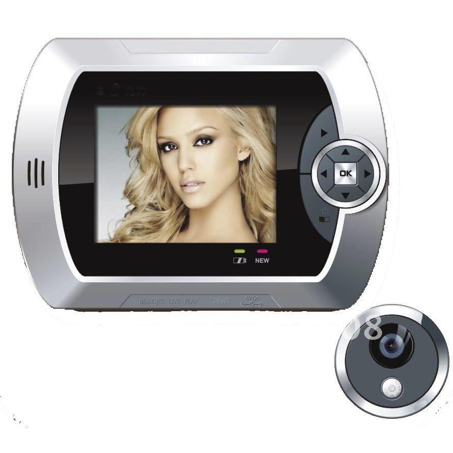 Дверной видеоглазок с датчиком движения и цветным монитором Home Luх покажет все, что происходит у вашей двери - простая и надежная система видеонаблюдения
