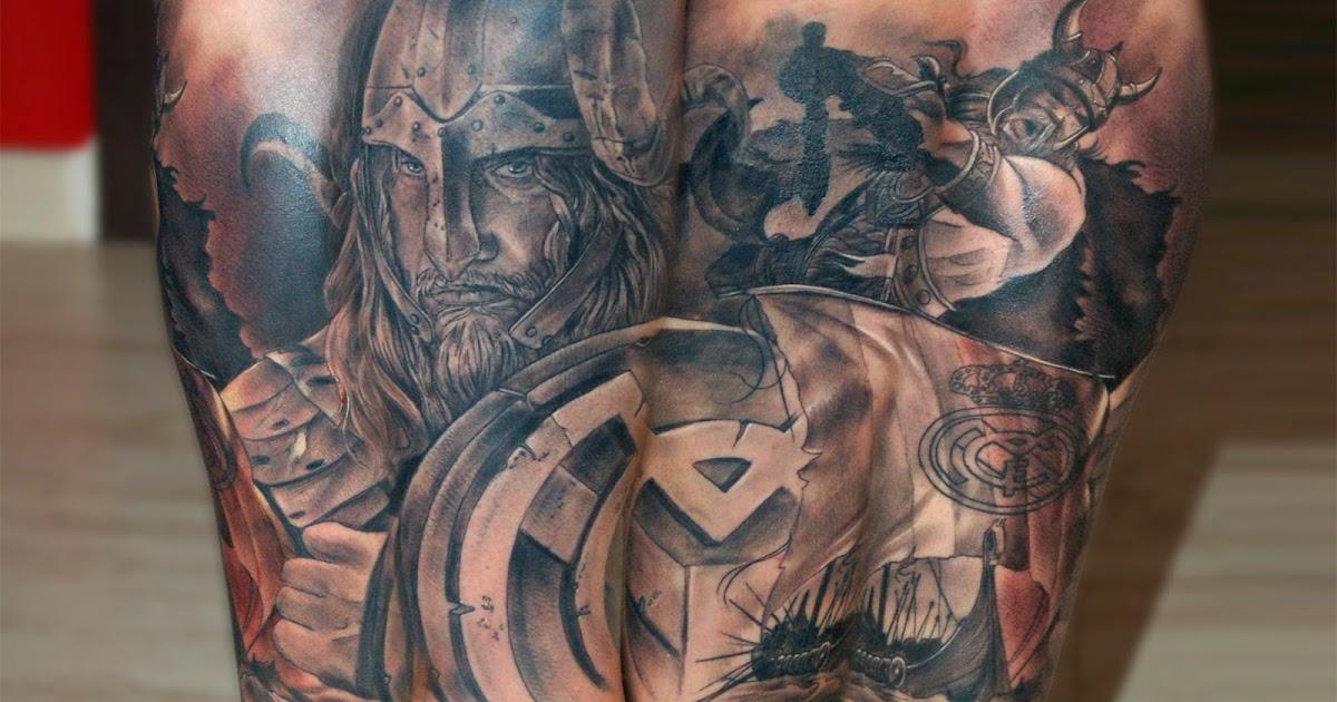 Cosafina tattoo carlos art studio tatuaje real madrid for Real madrid tattoos