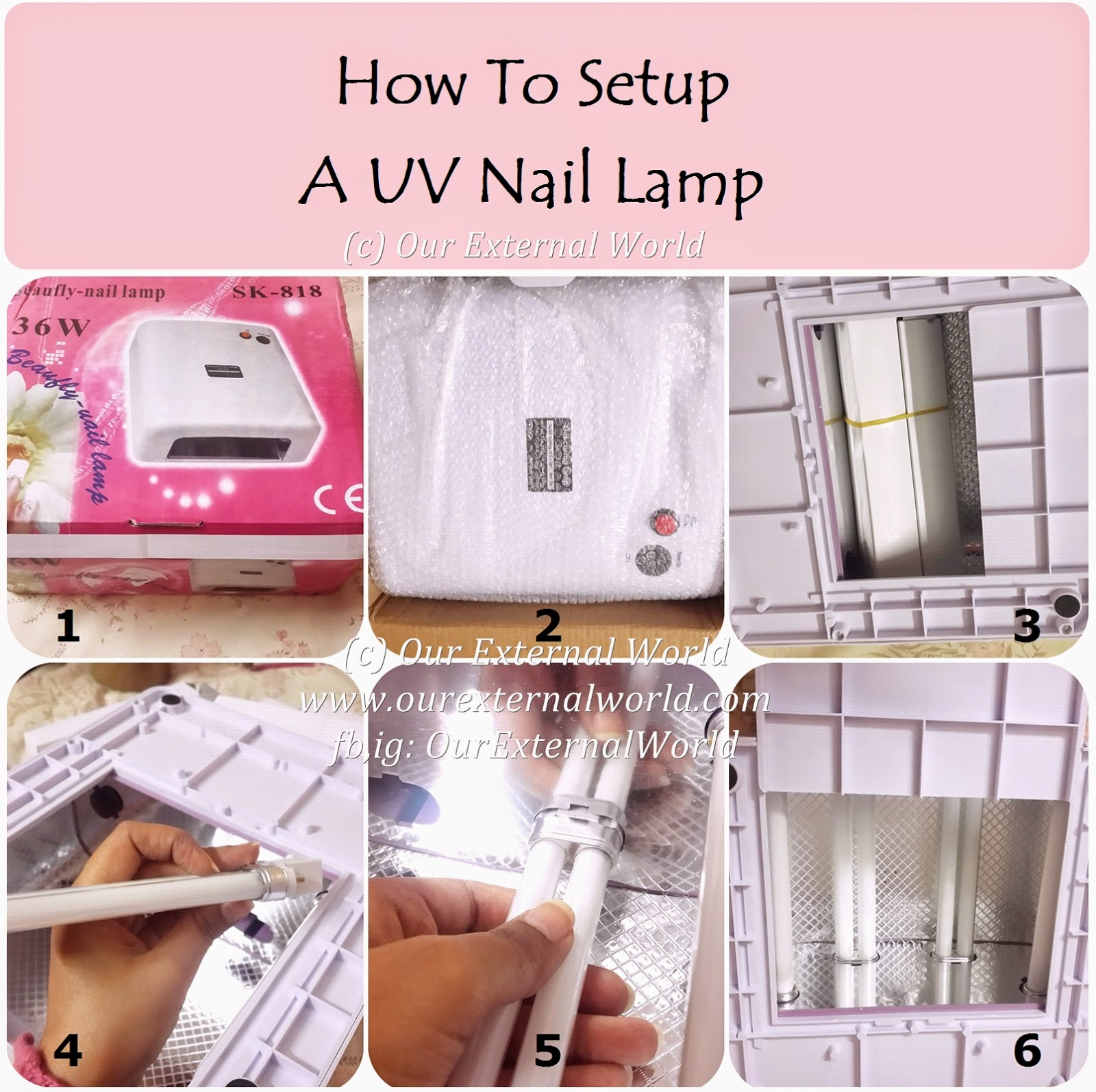 How To Setup A UV Nail Lamp For Gel Manicure, tutorial
