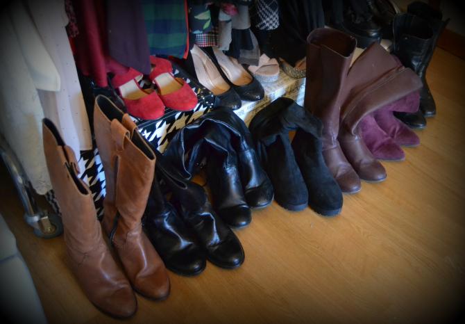 la mia collezione di stivali con gambale largo per polpaccio xl