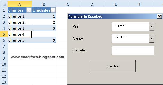 ... VBA de Excel , empezaremos por recordar el aspecto logrado para
