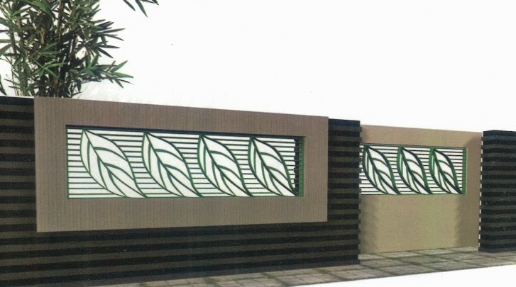 contoh pagar rumah modern