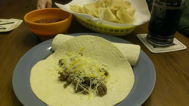 making homemade tacos,