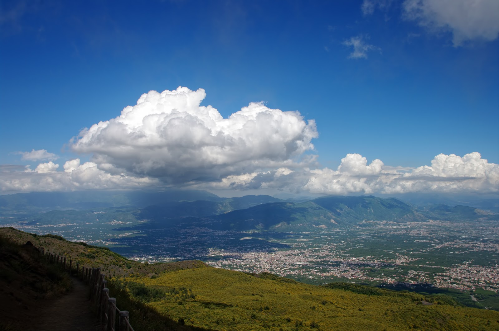 view from mountain Vesuvius