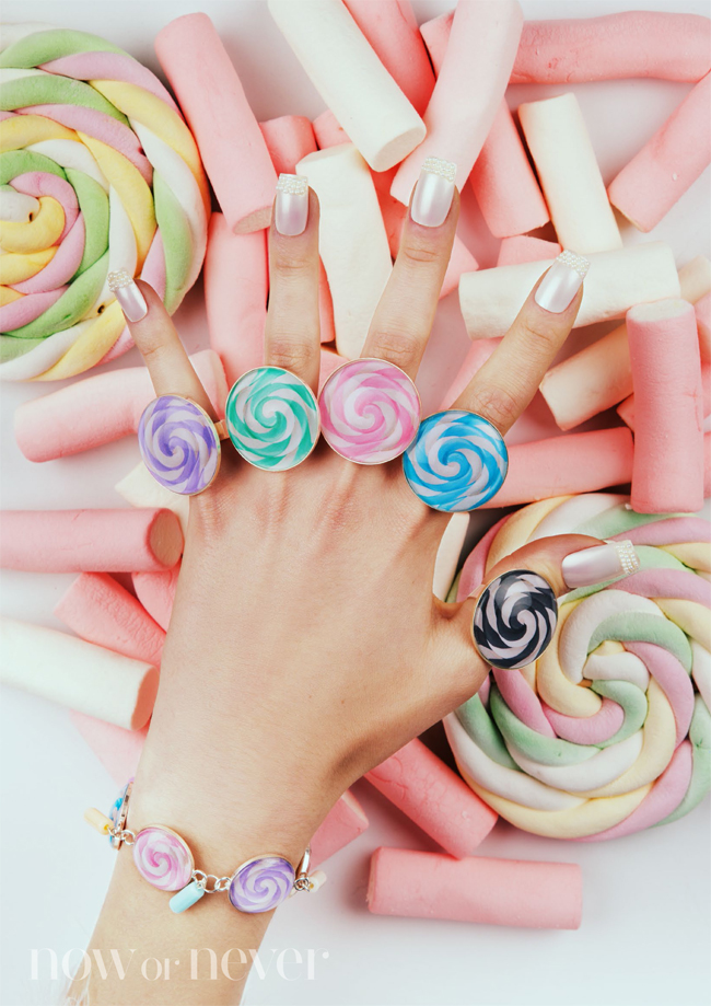 candy ring, kawaii ring, Now or Never Jewelry