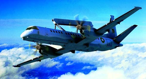 Erieye AEW&C Dengan Platform Pesawat Turboprop SAAB-2000. PROKIMAL ONLINE Kotabumi Lampung Utara