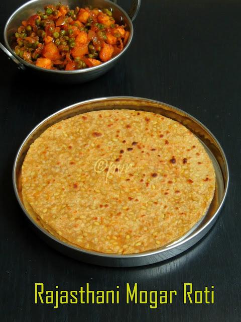 Rajasthani yellow moongdal roti, Mogar roti