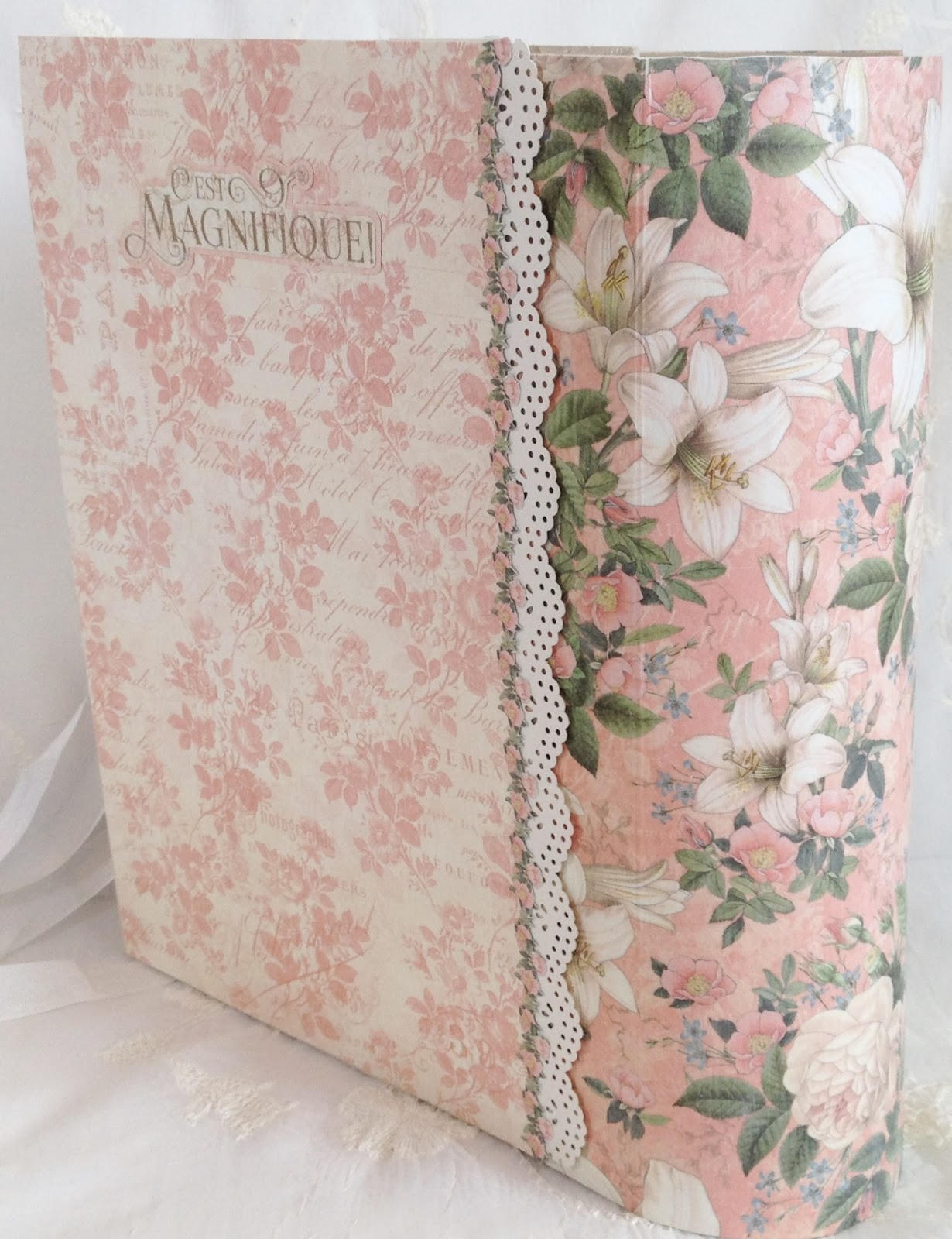 How to make scrapbook album cover - Backside Of The Cover