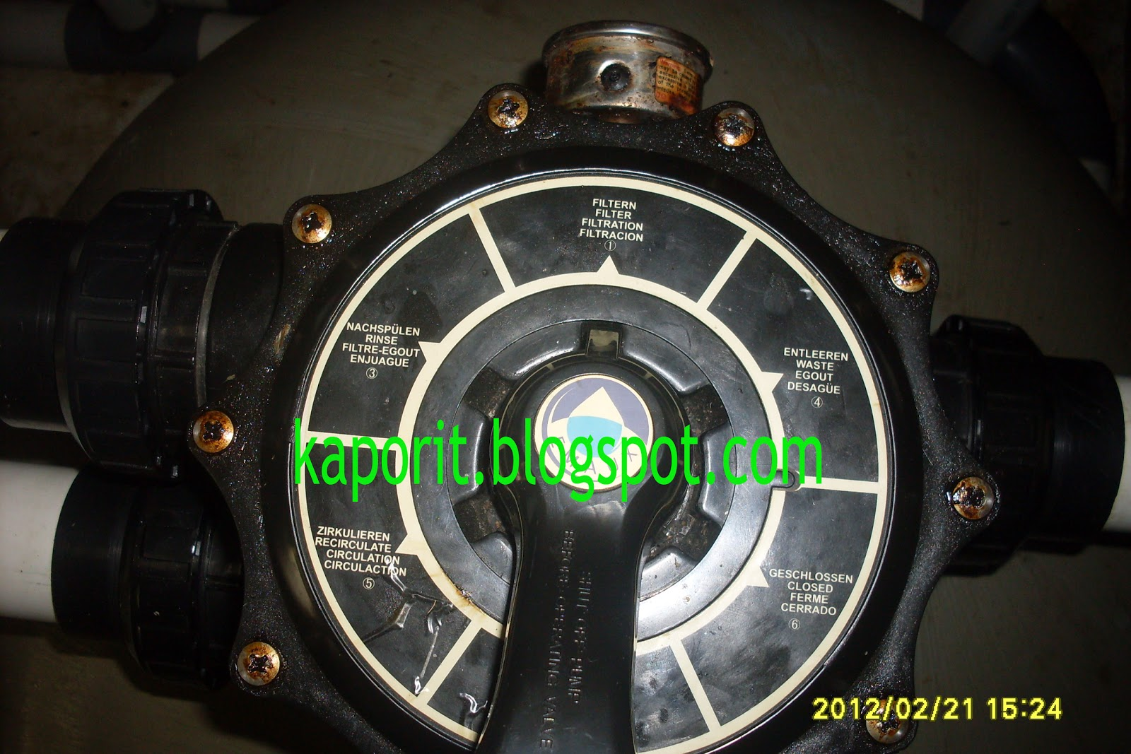 Head Position Handles Sand Filter Emaux Pool Maintenance