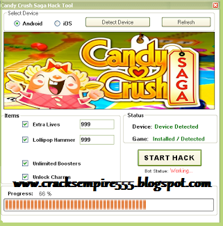 Candy Crush Saga Hack Cheat Tool v3.25 Android & iOS