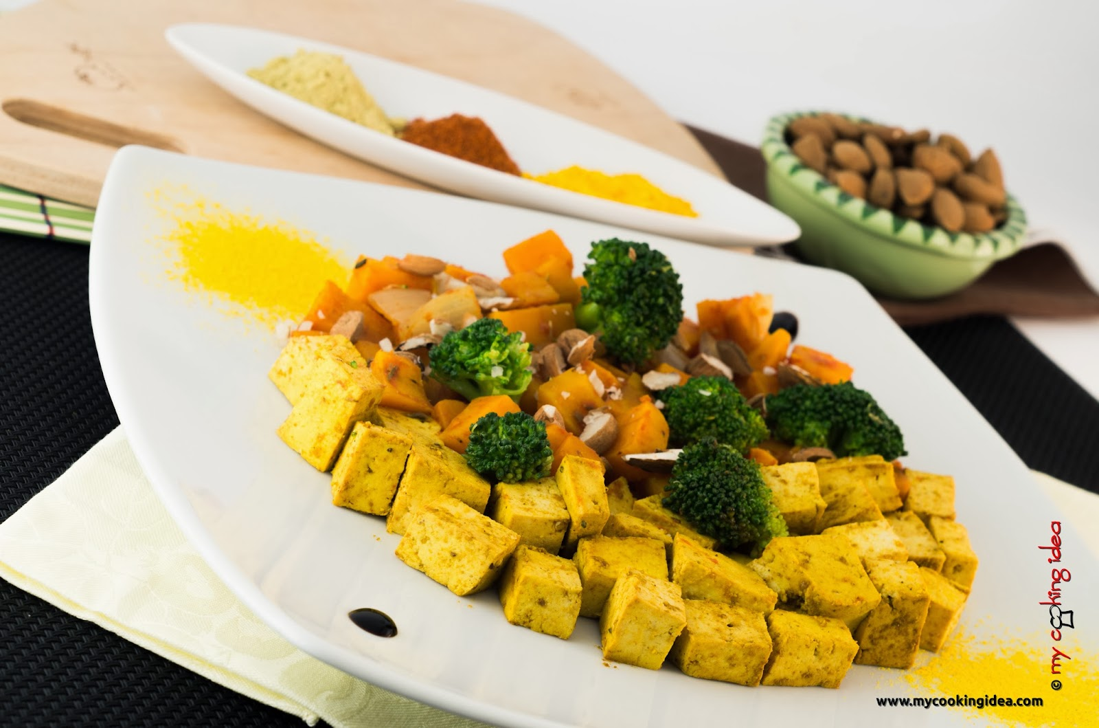 Tofu al curry con verdure, ricetta vegana, My cooking idea