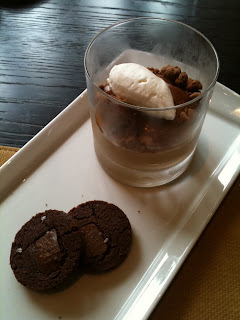 For dessert, I went with the Vanilla Caramel Budino with gianduja ...