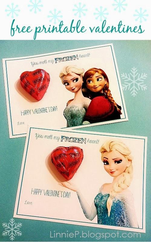 Disney Frozen Anna Elsa free printable valentines