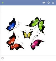 Butterflies - Facebook chat code