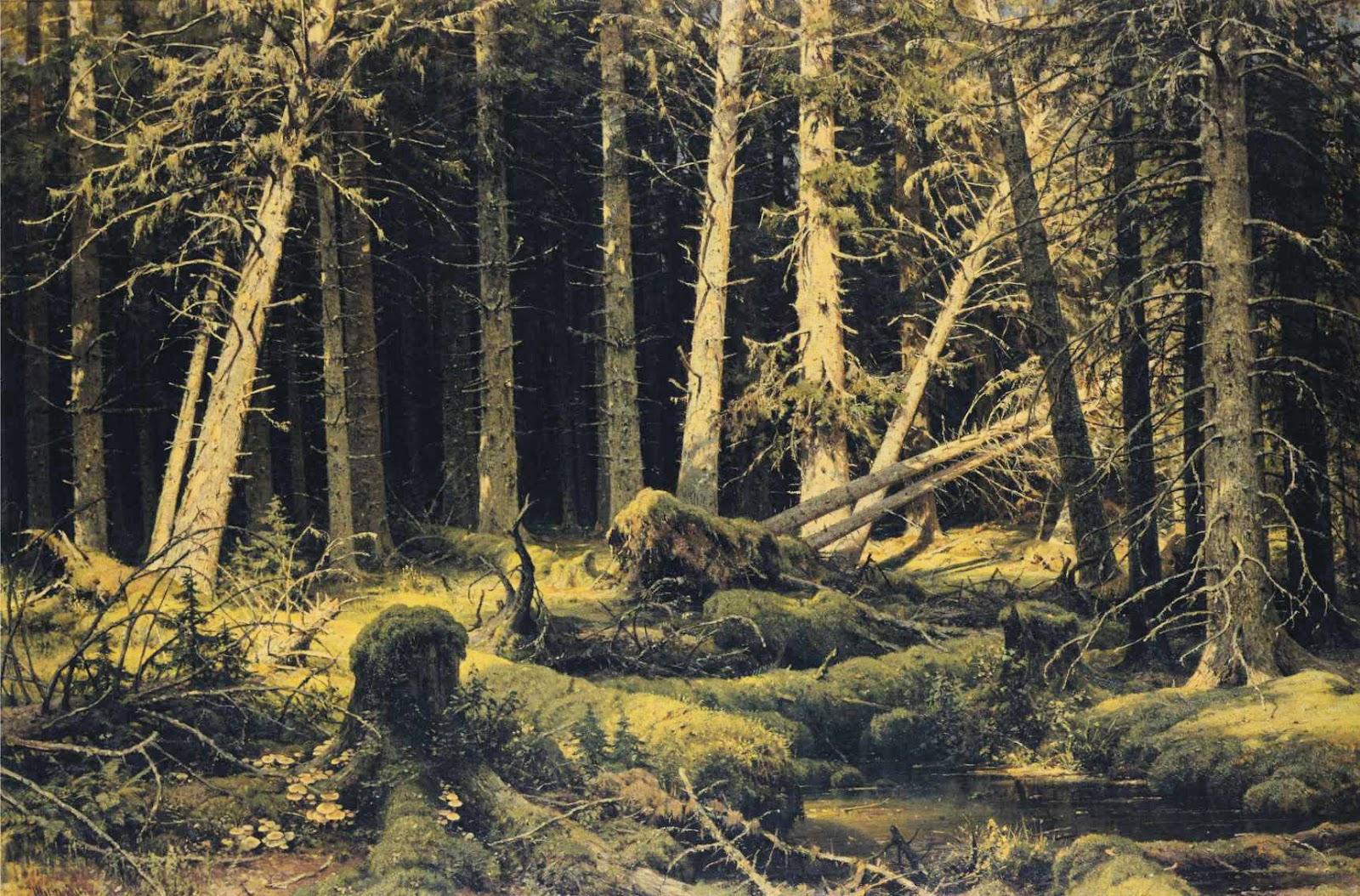 ivan shishkin Ivan ivanovich shishkin: russian summer landscape at ostrovki near the neva  river signed shiskin ostrovki (in cyrillic) oil on cardboard 35 x 40 cm.
