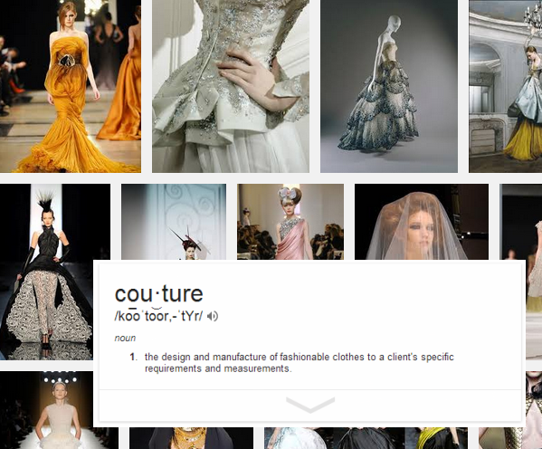 Live love sew my definition of couture for Couture meaning