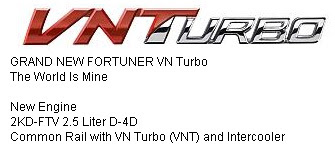 Fortuner VNT Turbo