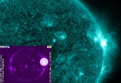 LLAMARADA SOLAR CLASE M1.6, 21 DE MARZO 2013