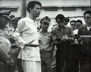 Nguyễn Văn Trỗi moments before his execution