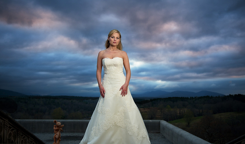 What a gorgeous bridal portrait Photography taken by Two Ring Studios