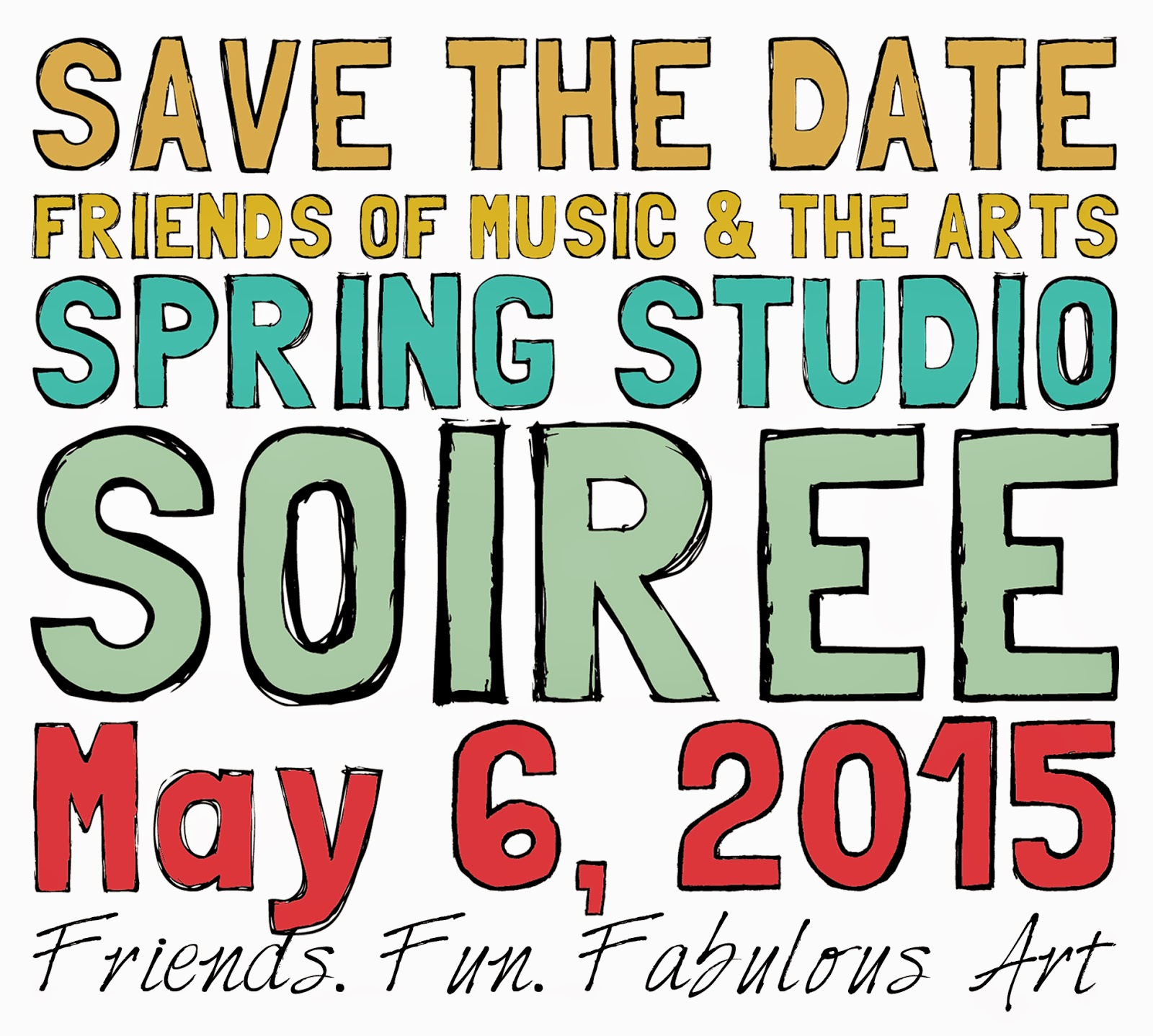 open studio of Miriam Schulman May 6, 2015 supporting Friends of Music and Art