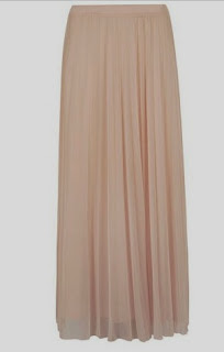 Dorothy Perkins blush mesh pleated skirt