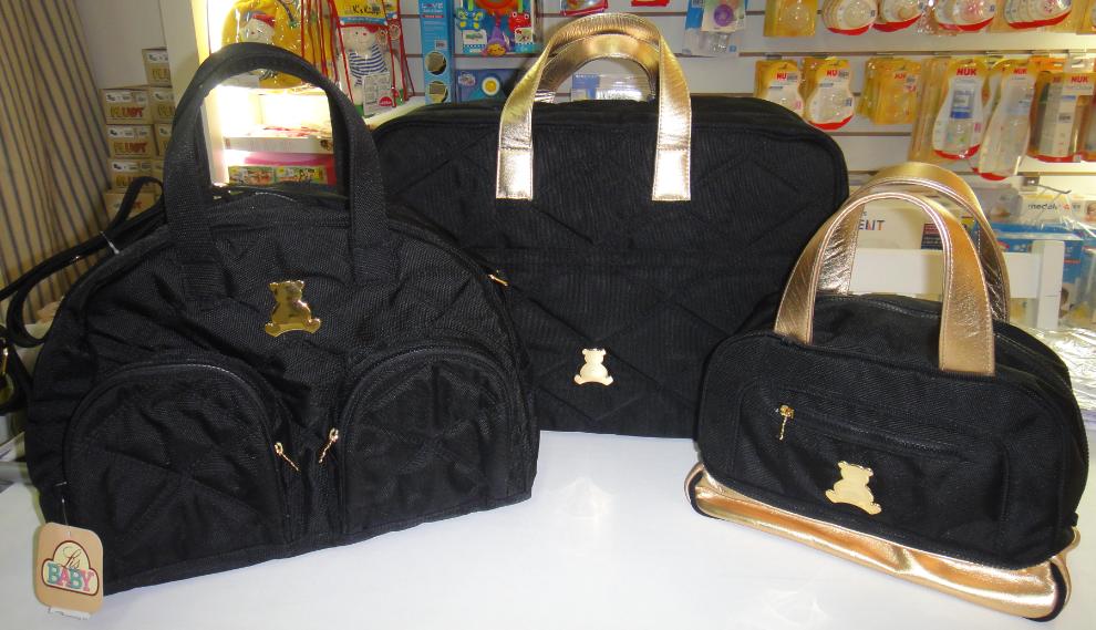 Bolsa Para Bebê Preta : Lis baby conjunto de bolsas bl branca preta e bebe