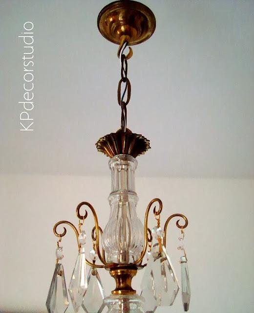 Restauración de lámparas de techo antiguas con lágrimas de cristal