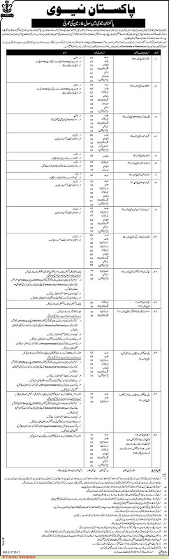 Jobs in Pakistan Navy at Islamabad & Karachi