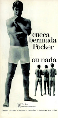 propaganda cueca bermuda Pocker - 1970. Brazil in the    70s.