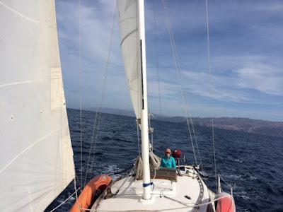 sailing to Catalina Harbor