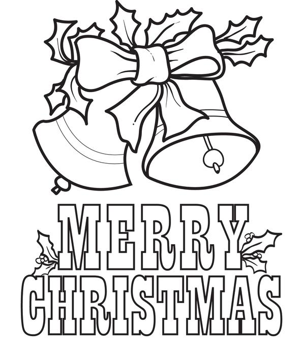 merry christmas signs coloring pages - photo#10
