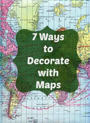 Southern Scraps Ways To Decorate With Maps