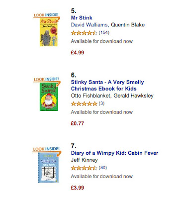 screenshot of stinky santa's stinking success